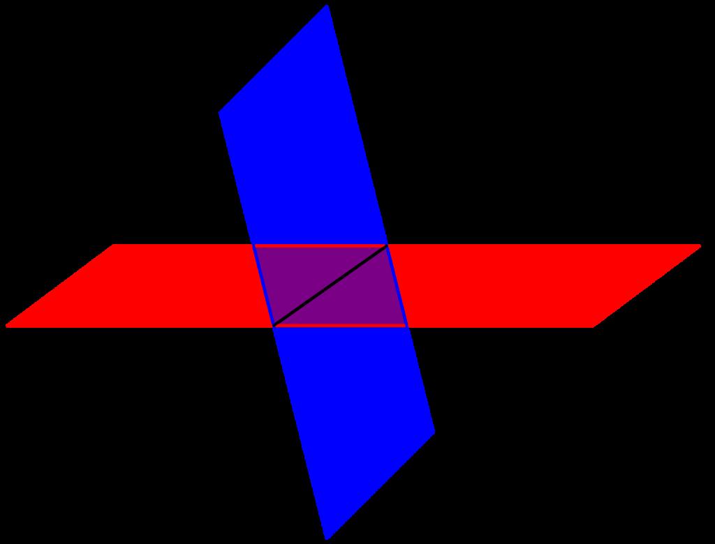 空間ベクトルと二つの平面-01