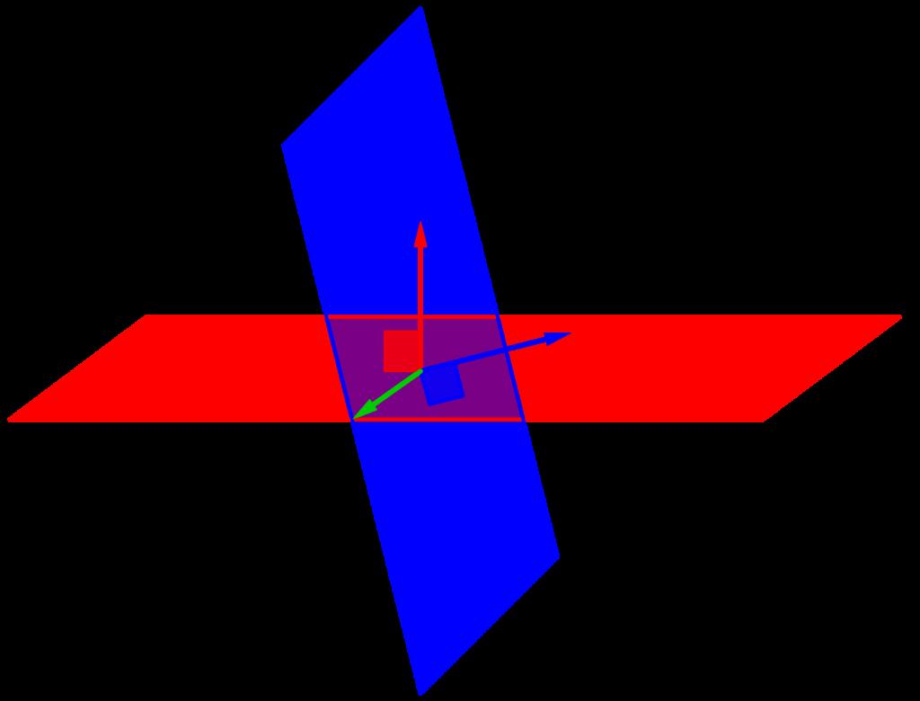 空間ベクトルと二つの平面-04