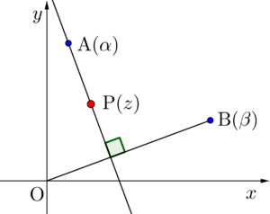 垂直に交わる直線の方程式