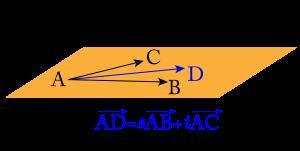 空間ベクトルと同一平面上の点-01