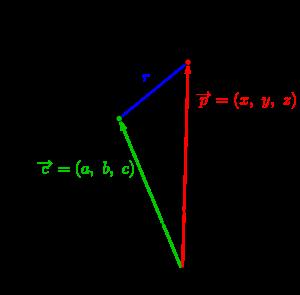 球面の方程式とベクトル方程式-02