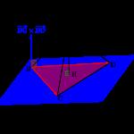空間ベクトルを利用した四面体の体積の求め方(成分表示)-i