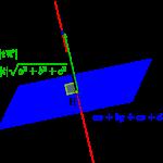 直線と平面の交点の求め方-i